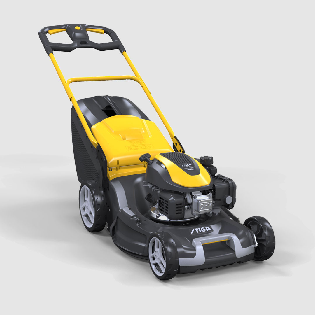 Cover Engine Stiga Lawn mower product design by Giulio Simeone Design Studio