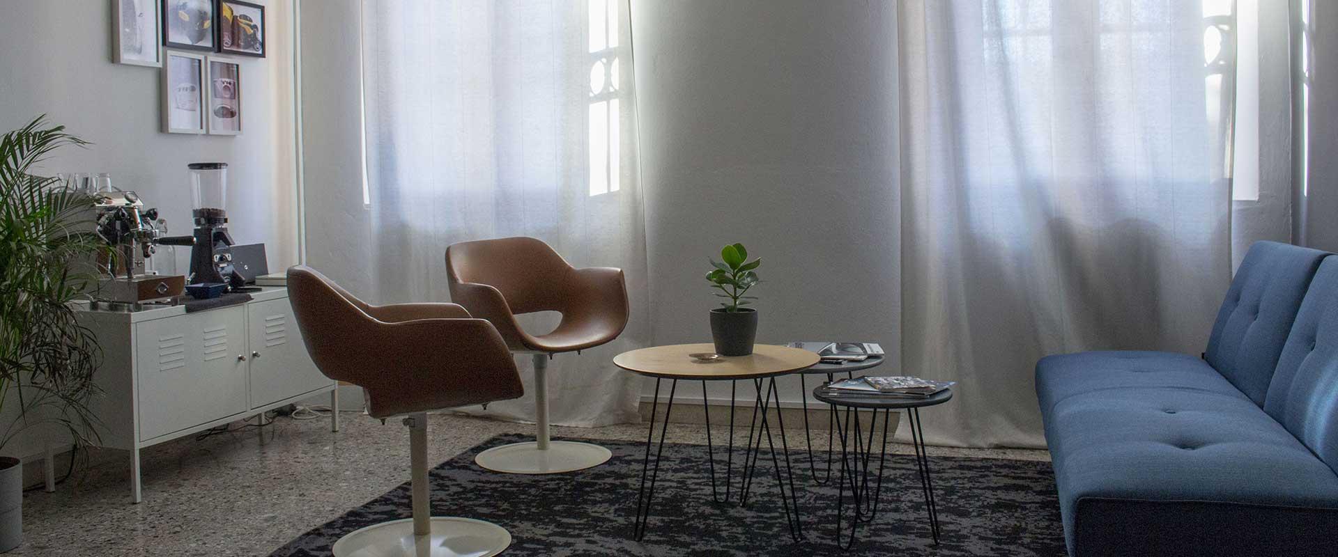 Interior design of Giulio Simeone Design Studio based in Padova